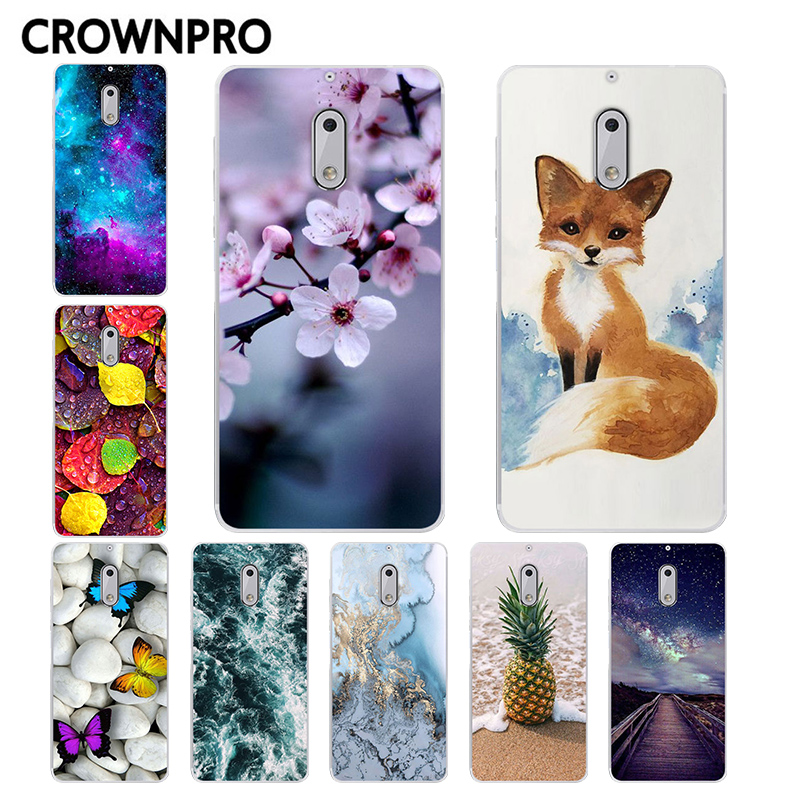 CROWNPRO Soft TPU FOR Capa Nokia 6 Case Cover Phone FOR Nokia 6 2017 TA-1000 Silicone Protective Back Case FOR Nokia 6