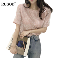 RUGOD Women Tassel WhiteΠnk T shirt 2019 New Arrival Spring Summer Fashionable Female Tops Loose Style camiseta feminina