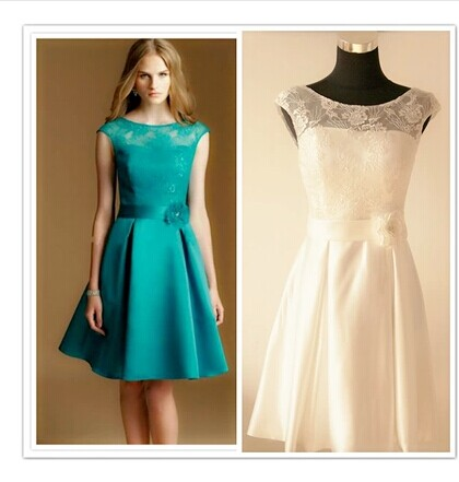 2015 new short mint green white purple turquoise lace for White and turquoise wedding dresses