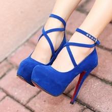 Размеры 34–42 супер высокие шпильки Обувь Туфли-лодочки на весну-осень Т-ремень Туфли с ремешком и пряжкой в стиле ретро туфли-лодочки с круглым носком свадебные туфли Для женщин 911866