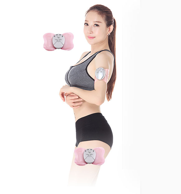 12 Pcs New Mini Butterfly Design Body Muscle Massager Electronic Slimming Massager For Fitness 4 LED Lights Display 2017 hot sale mini electric massager digital pulse therapy muscle full body massager silver