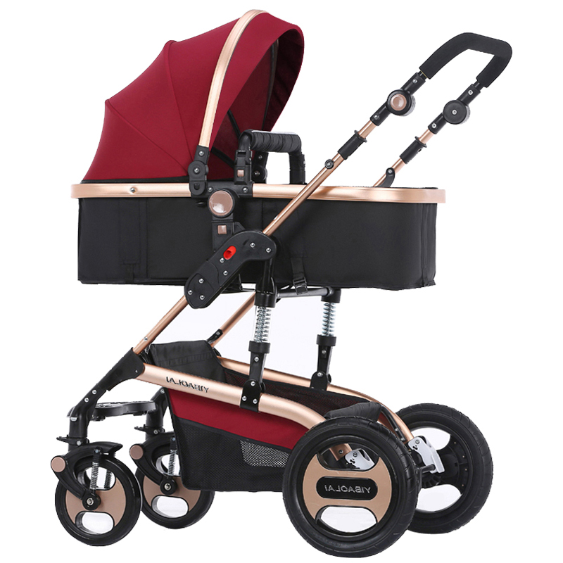 Brand baby twins  stroller light folding four seasons general trolley carriage