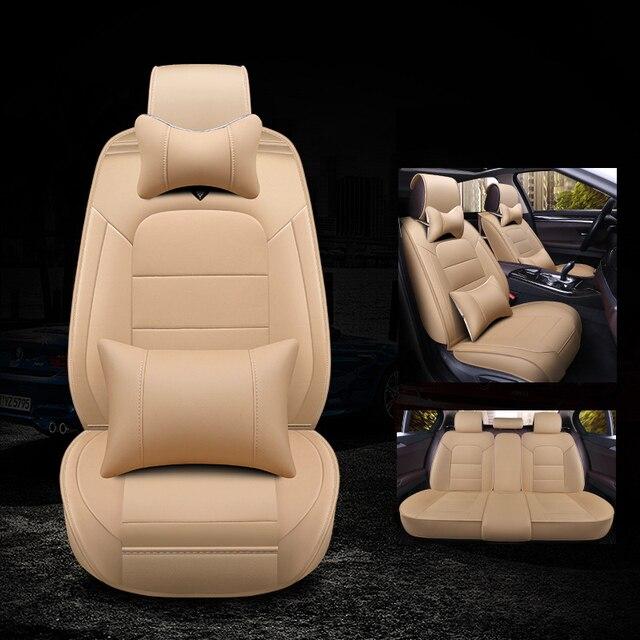 Kalaisike-housse en cuir universelle   Pour sièges dauto MG tous modèles MG7 MG6 GS MG3 MG5 ZS, accessoires de coiffure automobile
