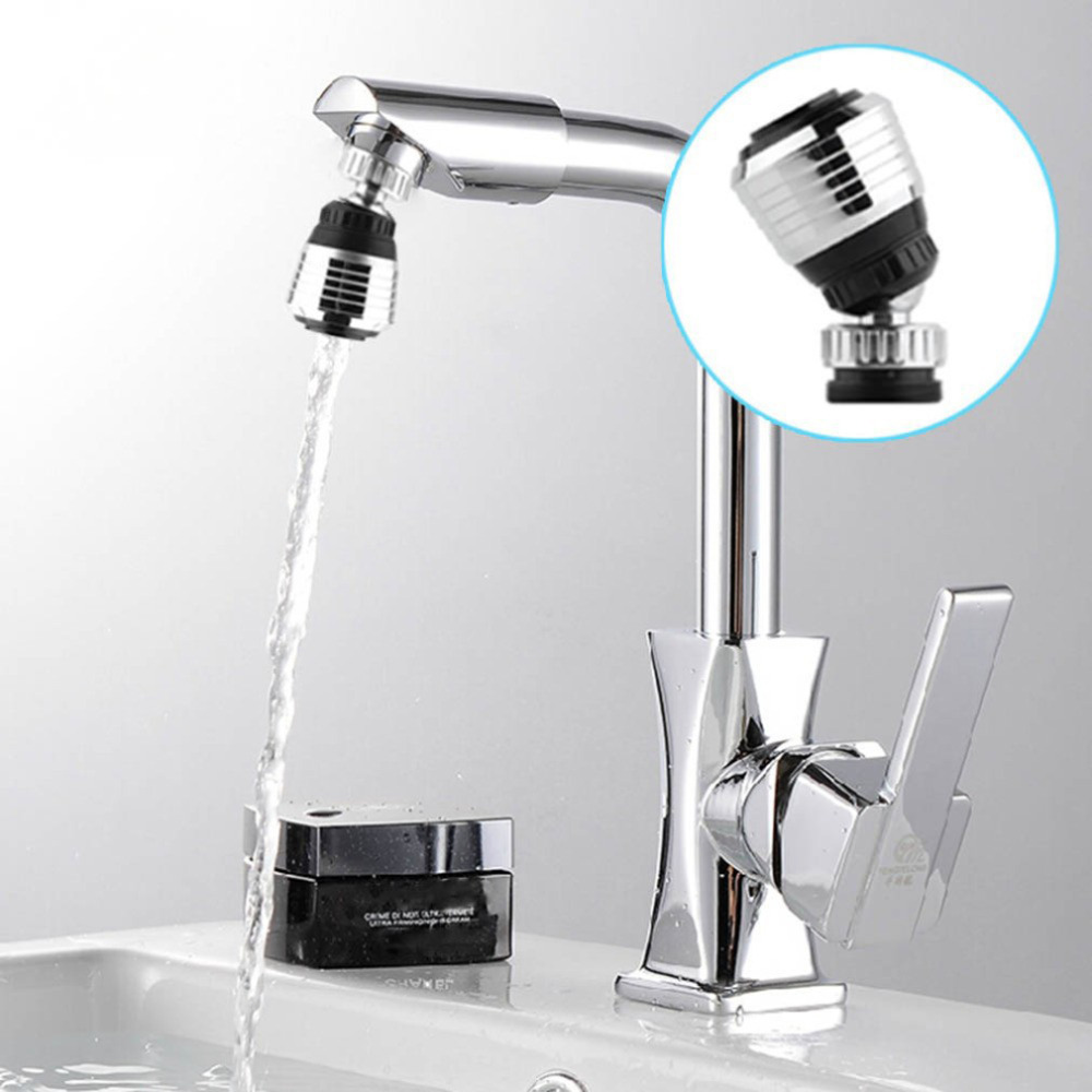 360 Degree Water Bubbler Swivel Head Saving Tap Faucet Connector Diffuser Nozzle Mesh Adapter Free Ship