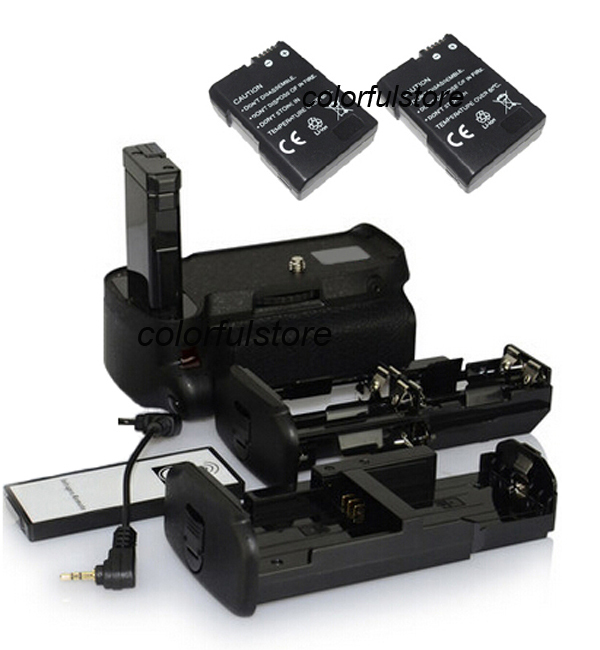 Vertical Power Shutter Battery Hand Grip For Nikon D5100 D5200 Camera as MB-D51+ IR Remote+2 x EN-EL14 ENEL14+ AA Battery Holder new arrival battery handle hand grip pack holder vertical power shutter for nikon d750 camera as mb d16 2 x en el15 car charger