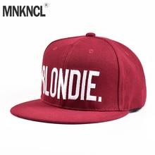 BLONDIE BROWNIE Burgundy Hot Sale Snapback Hats Women Gifts For Her Red Wine Baseball Caps Hip-Hop Adjustable