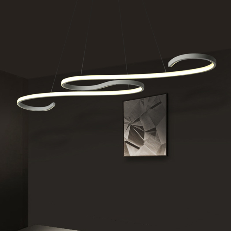Modern LED Pendant Lights For Dining Living Room Fixture Aluminum With Remote Dimmable Bar Coffee Restaurant