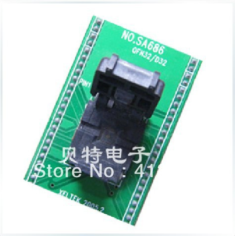 Xeltek private QFN32 programming adapter block, SA686 block transfer test burn, superpro5000 5004 private cx5004 burning fbga64 adapter test