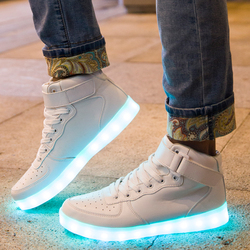 Qoujeily men s casual shoes lace up usb charging lights up led neon lighting casual shoes.jpg 250x250