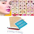 High Quality Permanent 3D Eyebrow Tattoo Pen Makeup Microblading Practice Kit Set Free Shipping