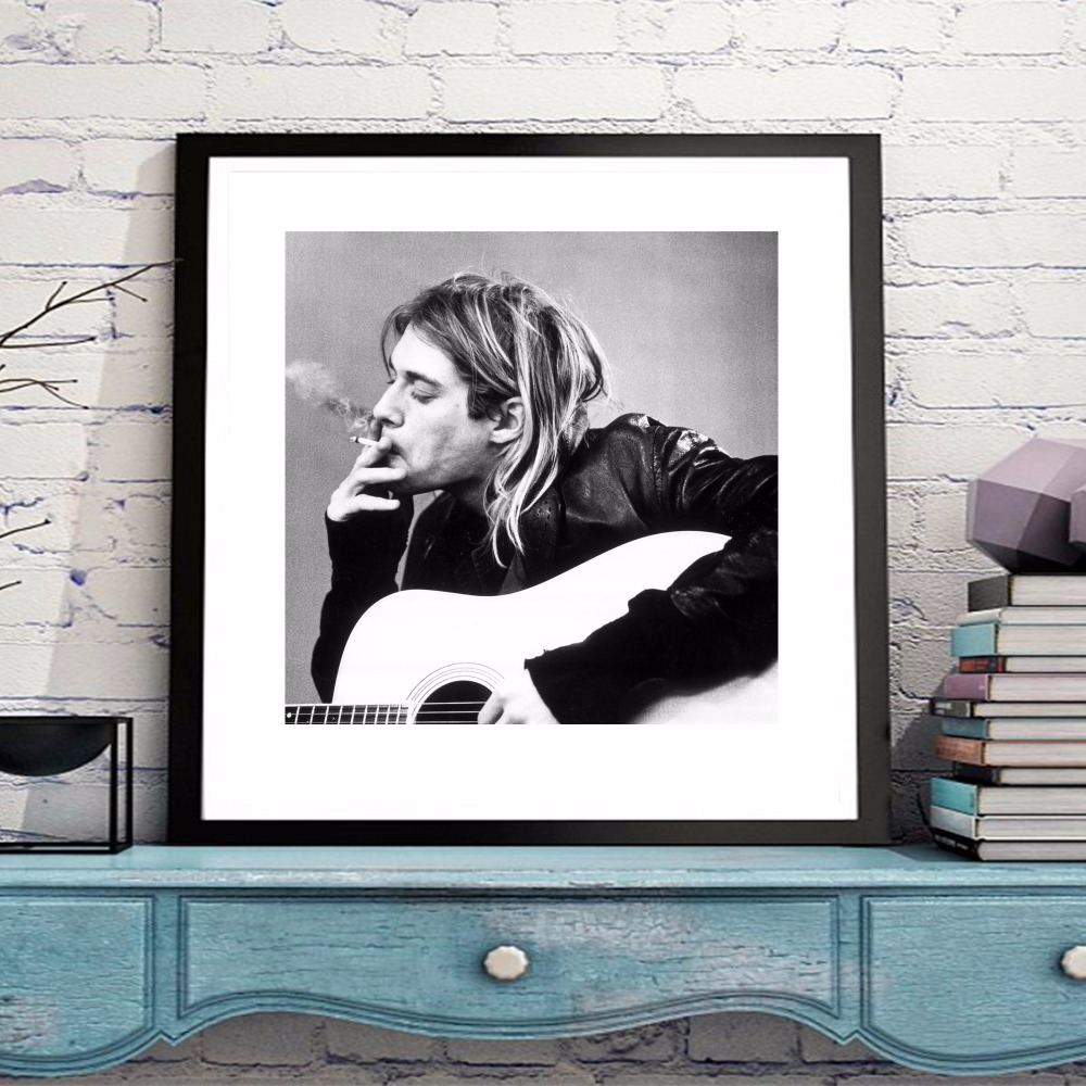 Kurt Cobain Classic Canvas Art Print Painting Poster Wall Pictures For Room Home Decoration Home Decor Silk Fabric No Frame