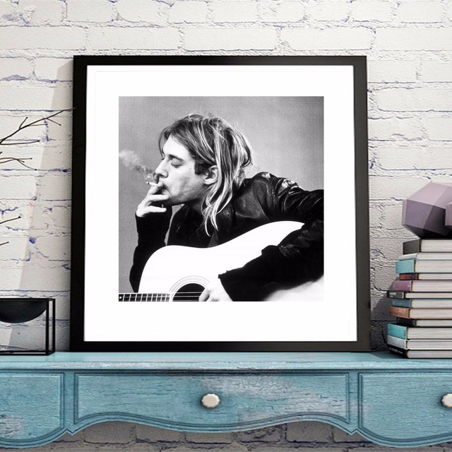Kurt Cobain Classic Canvas Art Print Painting Poster Wall Pictures ...