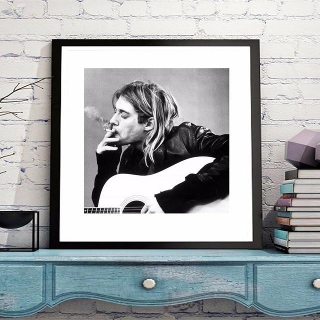 Kurt Cobain clásico lienzo impresión del arte pintura cartel Wall ...