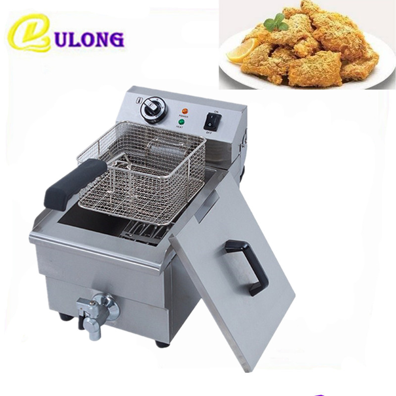 Automatic Electric Deep Fryer Multifunctional Household Commercial Single cylinder frying french fries machine пуф french fries