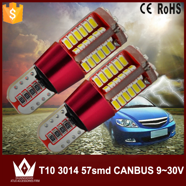 Guang Dian car auto canbus LED width lamp clearance light Position lamp instrument interior bulb 6w T10 3014 194 W5W erro free