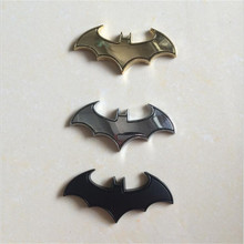 DE.SOUL 3D Metal Bats Car Stickers metal Car Badge Batman Logo Stickers Decals Car Styling