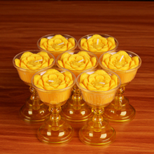 Lotus Shaped Butter Lamp Candle 7 pieces