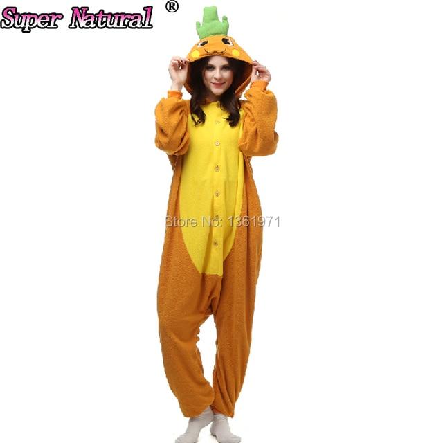 HKSNG Cheap DHL Halloween Boys Girls Adult Winter Anime Cartoon Animal  Carrot Pajamas Onesies Kigurumi Cosplay Homewear 8f537c94b365c