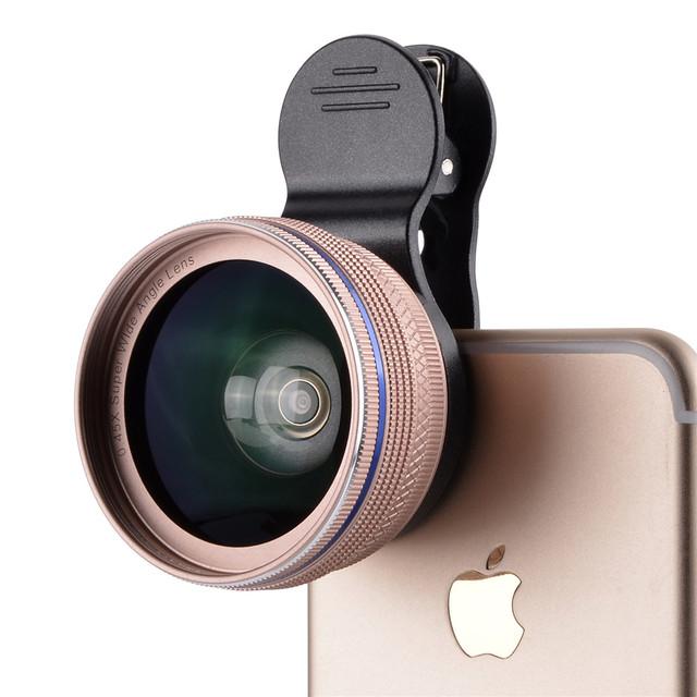2 en 1 Kit de Lentes de Cámara Del Teléfono HD Kit GRAN ANGULAR 0.45X + 12.5X lente macro con clips para redmi meizu huawei oppo vivp iphone htc