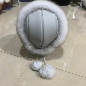 Image 3 - Fashion New Style Luxury Winter Russian Natural Real Fox Fur Hat 2020 Women Warm Good Quality 100% Genuine Real Fox Fur Cap