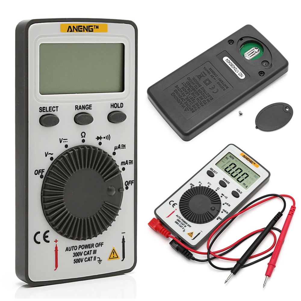 AN101 Pocket Digital Multimeter Backlight AC/DC Automatic Portable Meter Test Tools taiwan tai masi card multimeter digital high precision automatic ultra thin pocket portable small universal table