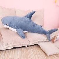 80/100 см Большой размер забавная мягкая Кусачка Акула плюшевая игрушка подушка Успокаивающая подушка подарок для детей