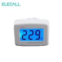 ELECALL EUA/EUPlug 80 DM55-1 AC-300 v LCD Voltímetro Medidor de Tensão Digital Com Luz de Fundo Azul