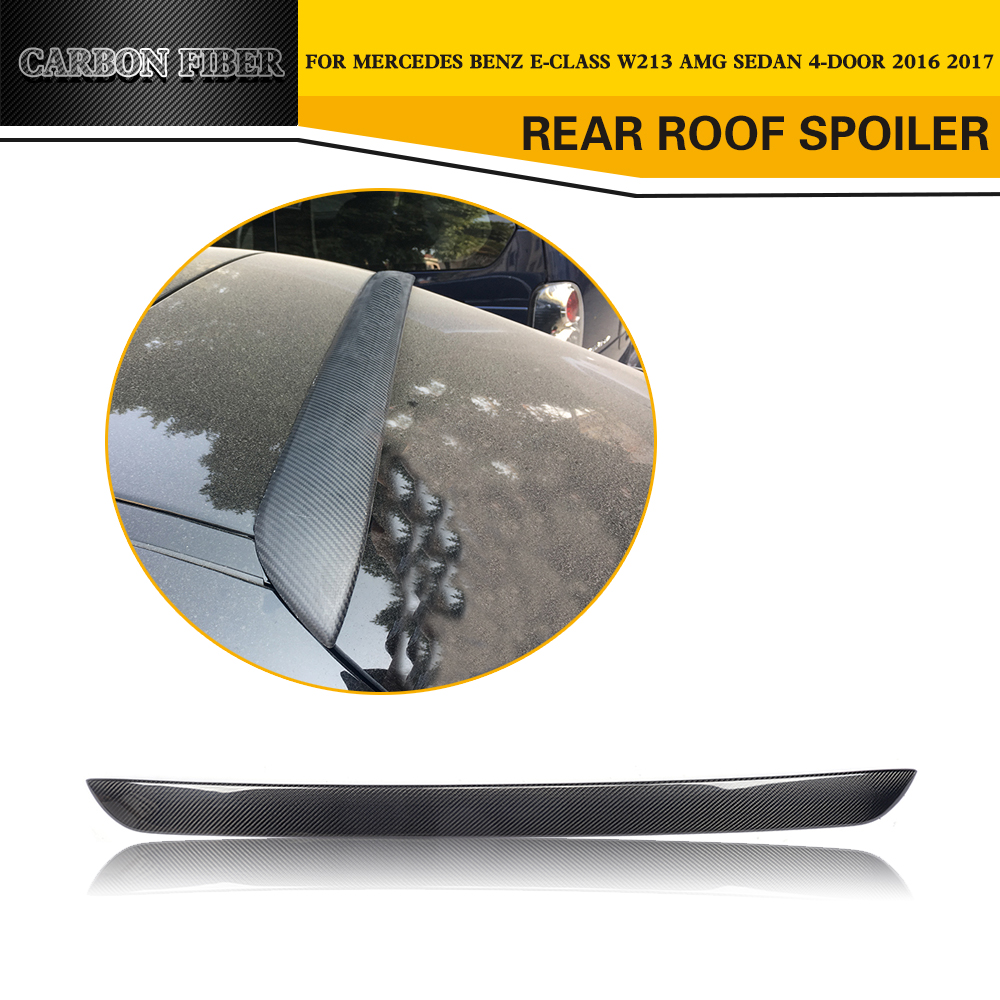 Carbon Fiber Car Trunk Rear Spoiler Wing Styling for Mercedes-Benz W213 E200 E300 E63 AMG Sedan 4-Door 2016 2017
