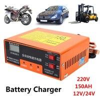 Automático 12 v/24 v carregador de bateria de carro carregador de bateria inteligente kit de carregamento elétrico automóvel