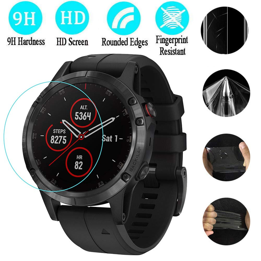 2PC Ultra-thin Soft HD Film Transparent Screen Protector For Garmin Fenix 5S Smart Watch Clear Screen Protection Film
