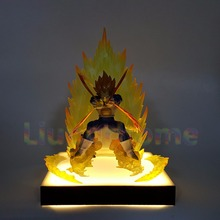 Dragon Ball Z Vegeta Power Up Led Light Lamp Base Dragon Ball Super Son Goku Led Light Lamp Luces Navidad Lampara Led dragon ball z majin buu diy led night light bulb table lamp anime dragon ball z buu figure led light luces navidad