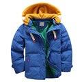 4-10Yrs Niños abrigos de invierno de alta calidad azul cabritos de la Chaqueta caliente gruesa Casual Niños chaqueta de Invierno de Navidad Abrigo de Invierno Niño