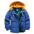 High quality 4-10Yrs Boys coats winter blue Jacket kids Casual thick warm Boys Winter jacket Christmas Boy Winter Coat