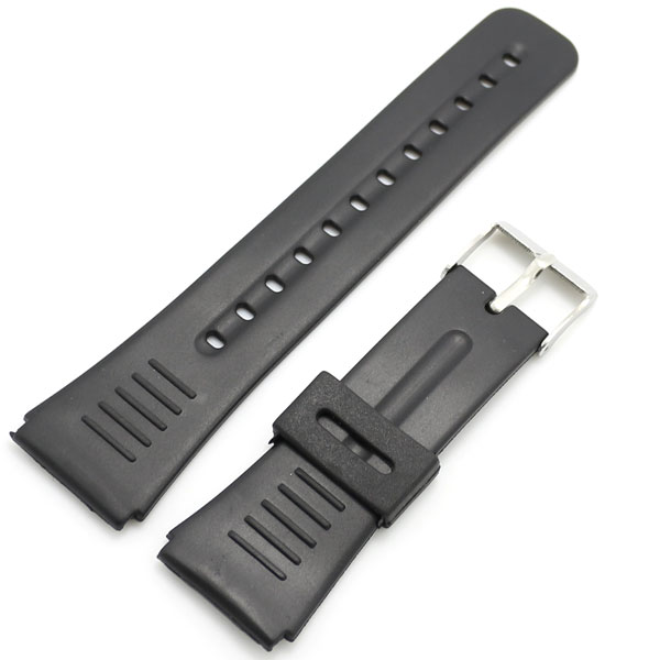 10pcs/Lot Black 22mm Band Width Rubber Wrist <font><b>Watch</b></font> Band Strap Stainless Steel Pin Buckle <font><b>Mens</b></font> Womens with Spring <font><b>Bars</b></font> image