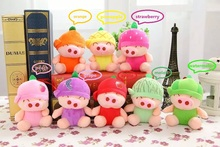 New Fruit Mcdull Pig Plush Toy Apple Orange Watermelon Pineapple Strawberry Peach Grape Melon Christmas Gifts 8PCS/LOT Wholesale