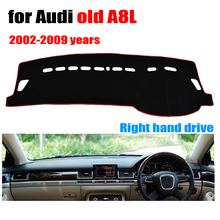 Car dashboard cover mat for Audi old A8L 2002-2009 years Right hand drive dashmat pad dash covers auto dashboard accessories