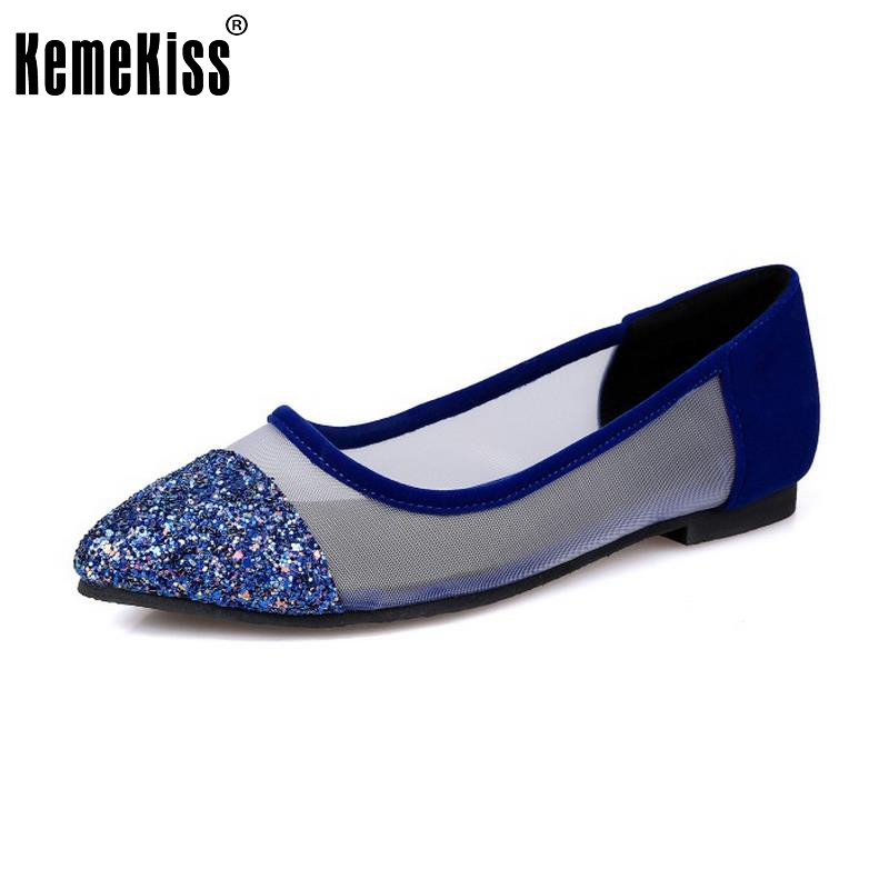 KemeKiss Women Shoes Women Flats Pointed Toe Glitter Mixed Color Shoe Lady Fashion Daily Leisure Calssics Footwear Size 33-43 emporio armani emporio armani ar6054