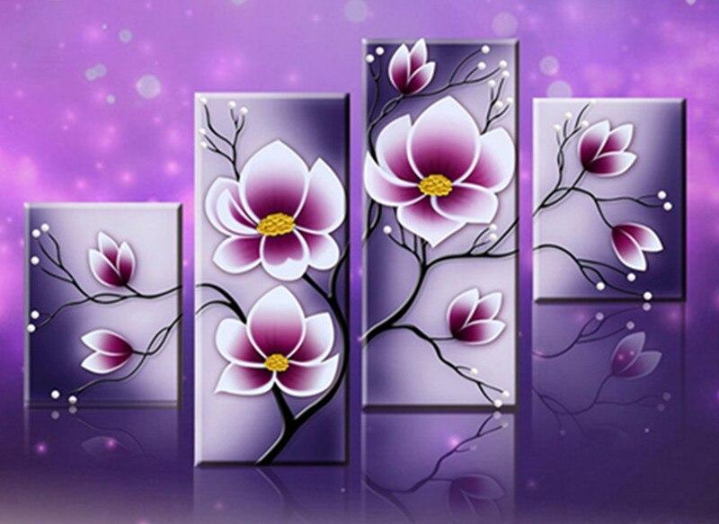 Especialmente en forma mágica bordado de diamantes flor tulipán 5d pintura bricolaje diamante punto de cruz diamante mosaico decoraciones navidad