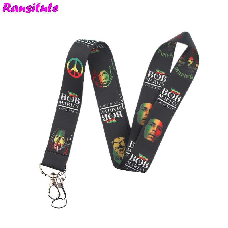 Ransitute R467 Bob Marley keys ID Card Gym Mobile Phone Straps USB badge Holder DIY Phone Hang Rope Lanyard