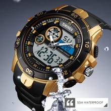 купить SKMEI Men Sports Outdoor Watch Dual Time Alarm Clock Day Date Waterproof Digital Wristwatch Stopwatch Clock Relogio Masculino дешево