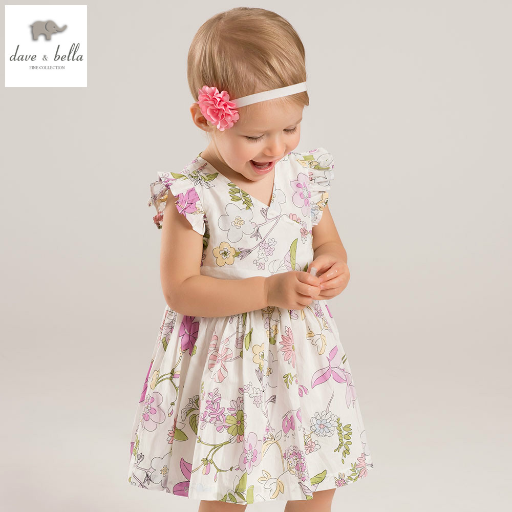 DB4405 dave bella summer baby girls princess dress flowers dress wedding dress kids birthday dress girls costumes hama deltapro3d180 4405