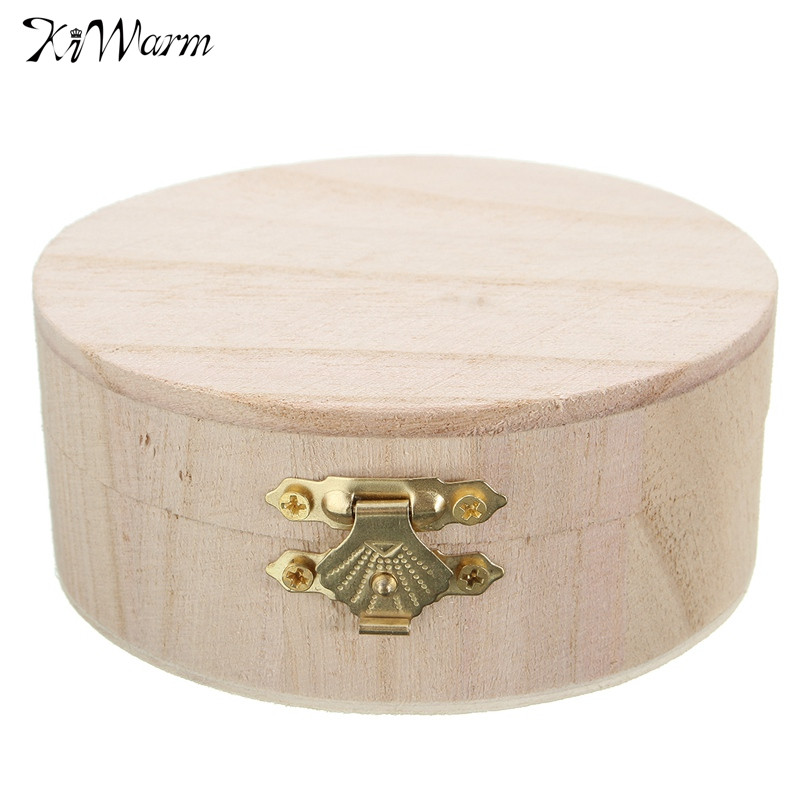 Hot Sale Portable Storage Boxes Round Wooden Box Jewelry Watch