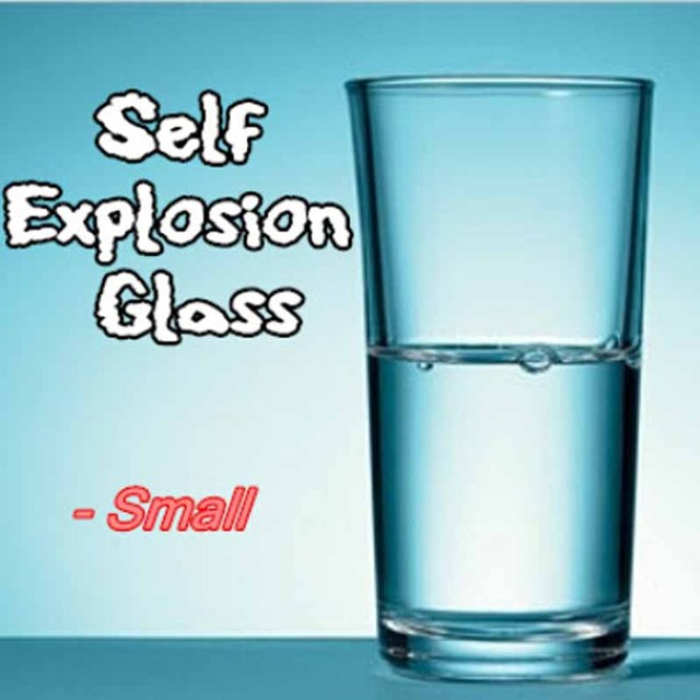 5pcs/lot Self Explosion Glass (Small),(Dis 6.7*H 10.5cm) magic tricks,gimmick,stage magic,illusions,Accessories,commedy