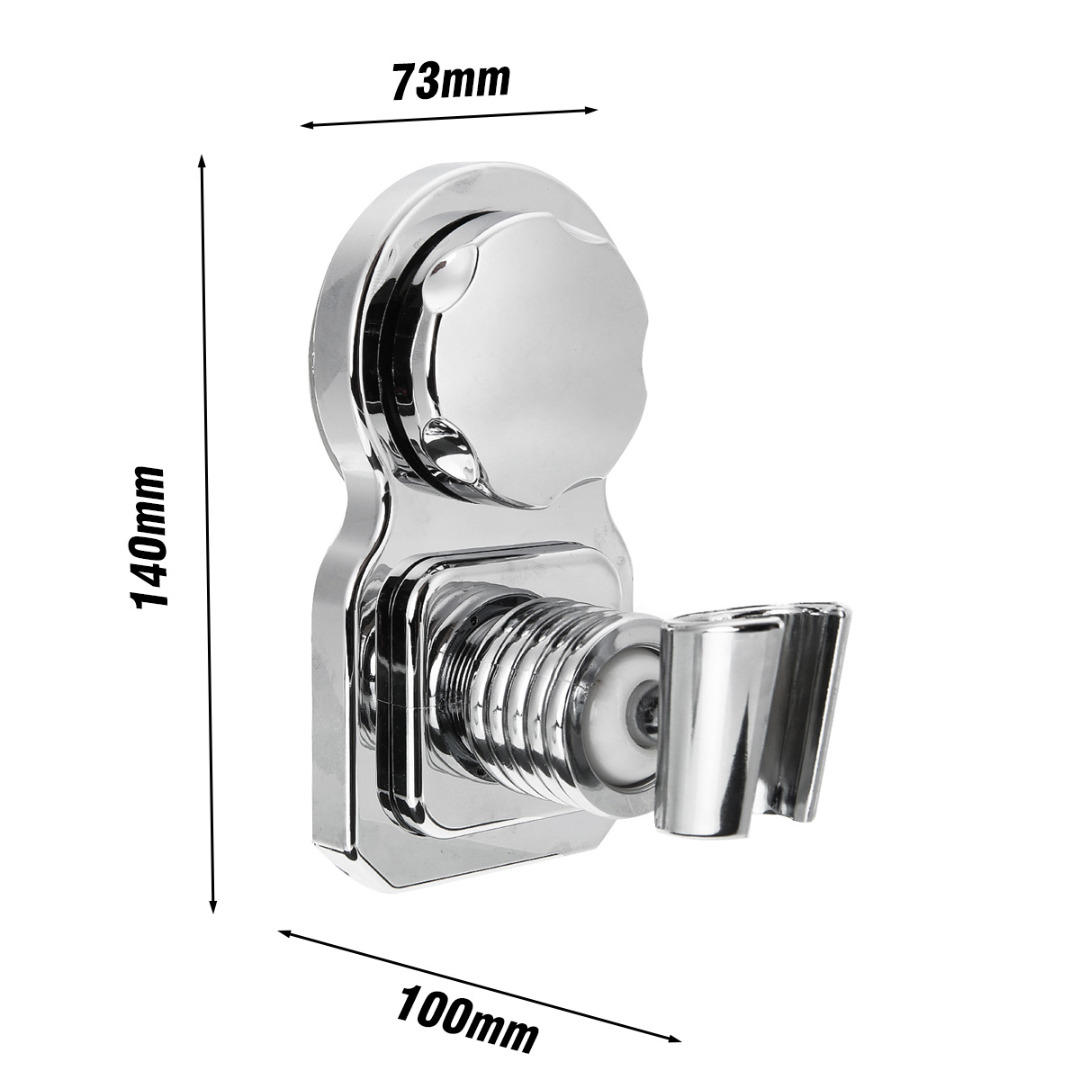 1pcs Universal Bathroom Wall Mounted Shower Head Holder Handset Chrome Strong Suction Replacement Showerholder1pcs Universal Bathroom Wall Mounted Shower Head Holder Handset Chrome Strong Suction Replacement Showerholder