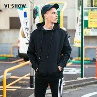 VIISHOW Brand Hoodies Men Top Quality Cotton Warm Hoodie Male 2017 Fashion Drawstring Hooded Hoodies Black