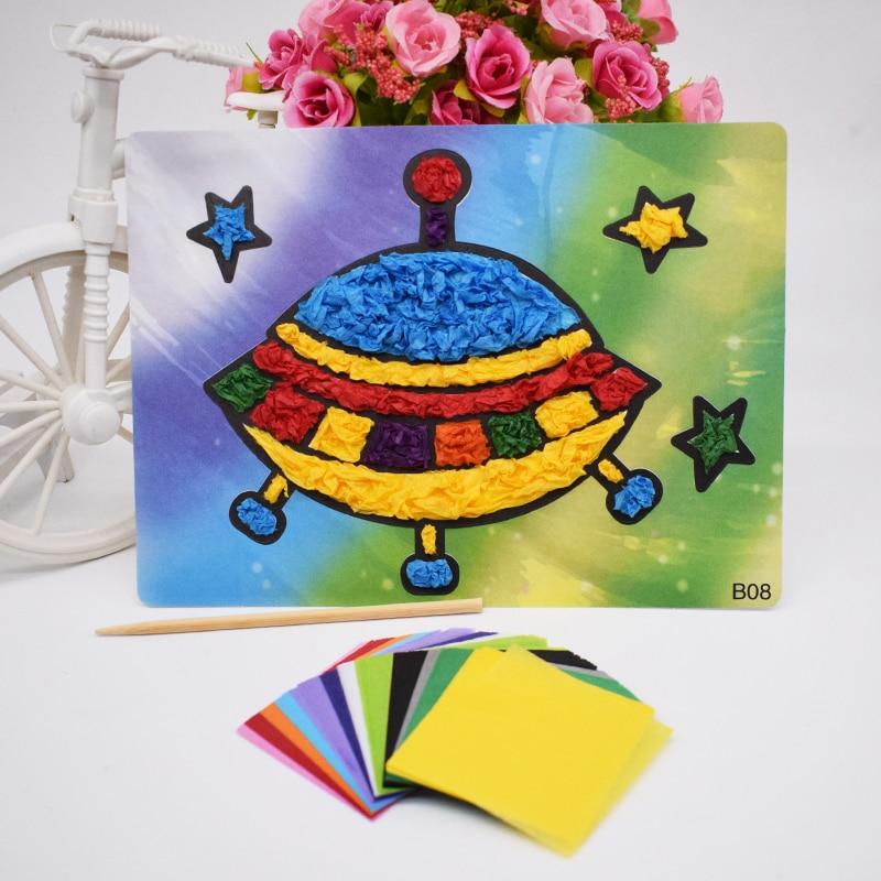 Kids Kindergarten Toys For Children DIY Crafts Felt Paper Material UFO Handicraft For Girl Handmade Arts Gift New For Wholesale