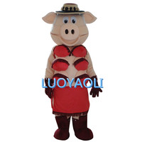 Puppets Striptease Strip Pig Swinish Mascot Costume, Party Outfits Fancy Dress Free Shipping