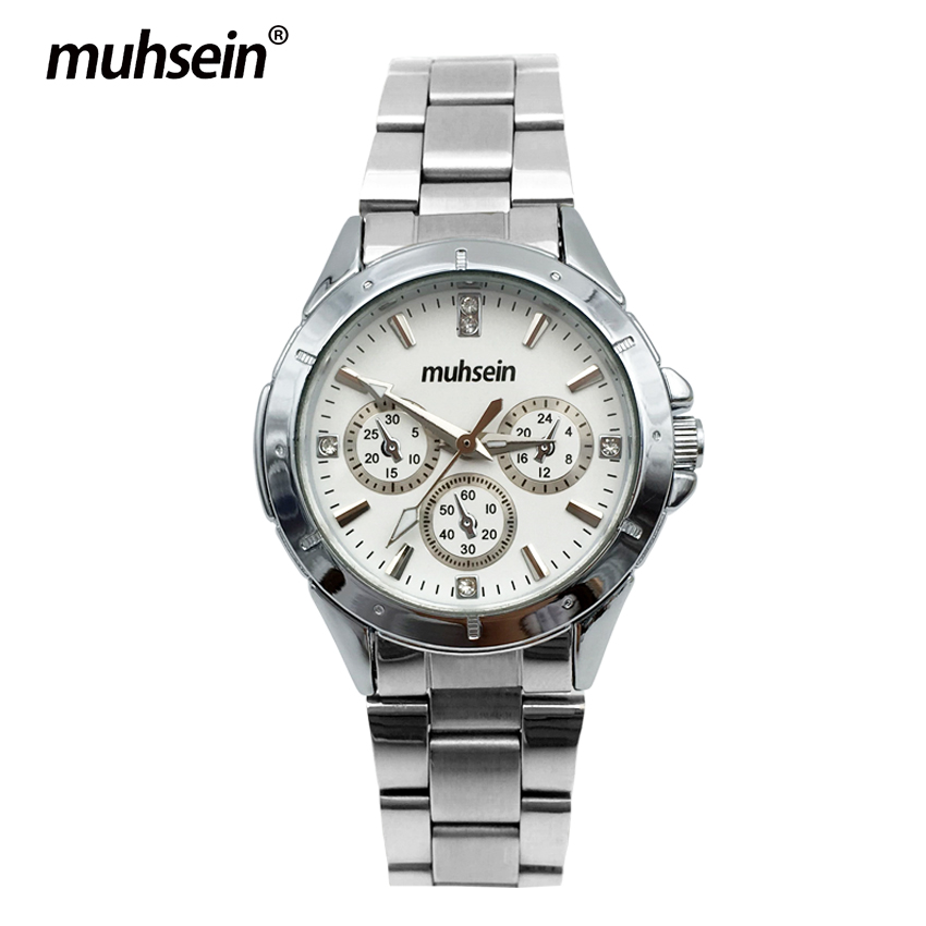 ФОТО Muhsein   Wristwatches  topbrand  Quartz Watches Free Shipping  Bussiness Waterproof Stainless Steel  women Watch