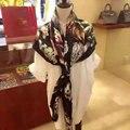 Высокое Качество Печатных Шелка Саржевого шарф, Mulberry Шелковые Шарфы 140 см * 140 см