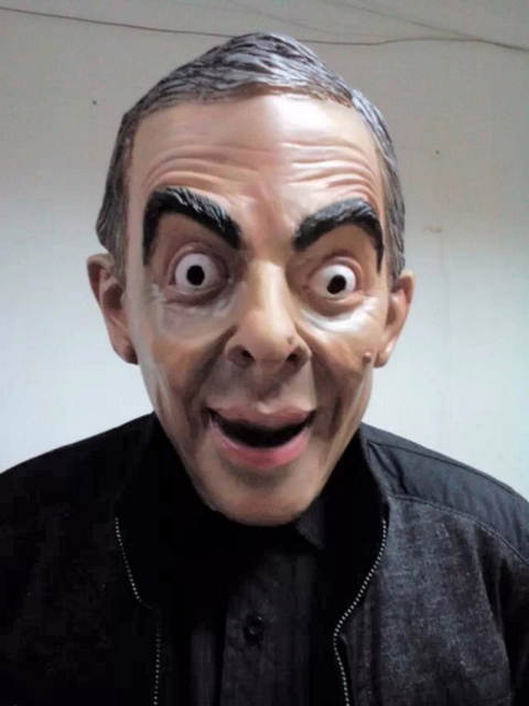 Funny star mr bean realistic mask Laugh-making star latex mask funny latex Mr Bean  sc 1 st  AliExpress.com & Funny star mr bean realistic mask Laugh making star latex mask funny ...